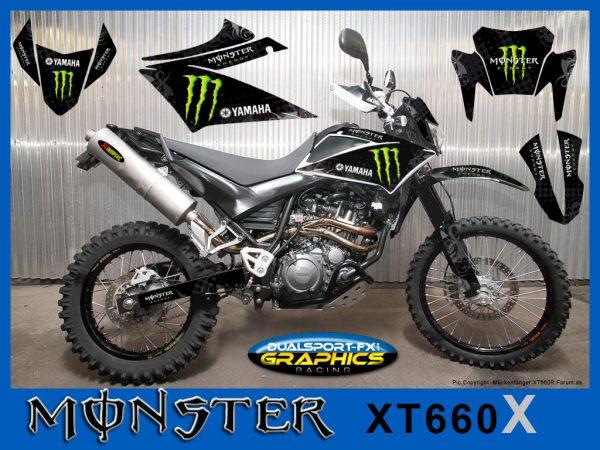yamaha xt 660 x Monster dekor, graphics, Race