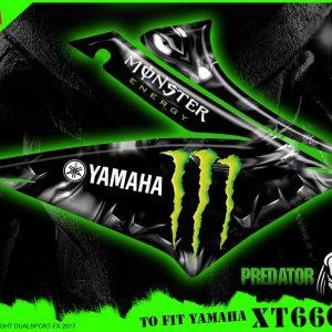 Monster Energy Decal Set, Predator, Replica Set, Dualsport FX