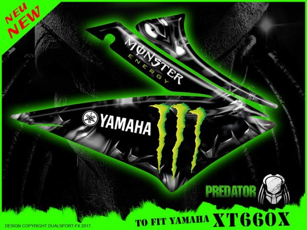 Monster Energy Decal Set, Predator, Replica Set, Dualsport FX